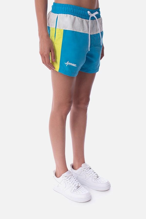 Shorts Unissex Approve Retropia Azul e Off White