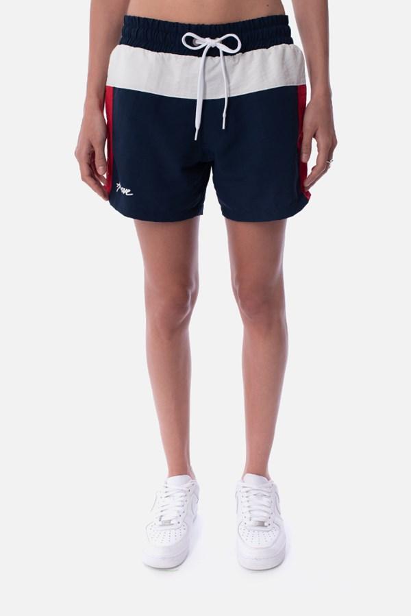 Shorts Unissex Approve Retropia Azul e Vermelho