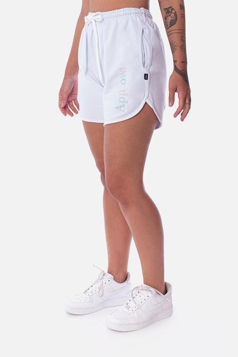 Shorts Unissex Moletom Appprove Mirage Branco