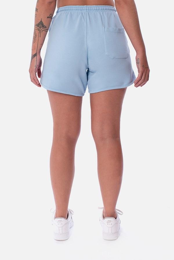 Shorts Unissex Moletom Approve Psychedelic Azul