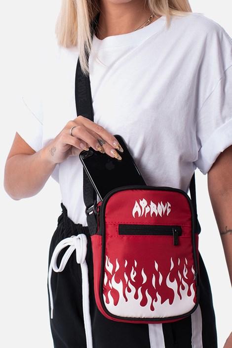 Shoulderbag Approve Flames Vermelha