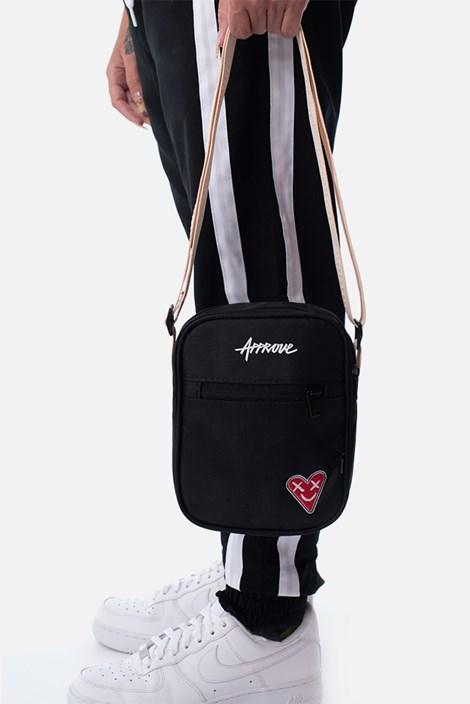 Shoulderbag Approve Heart Preta