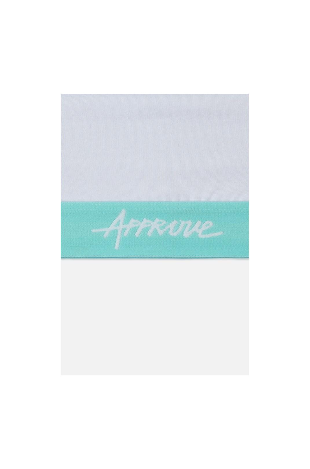 Top Approve Branco com Azul