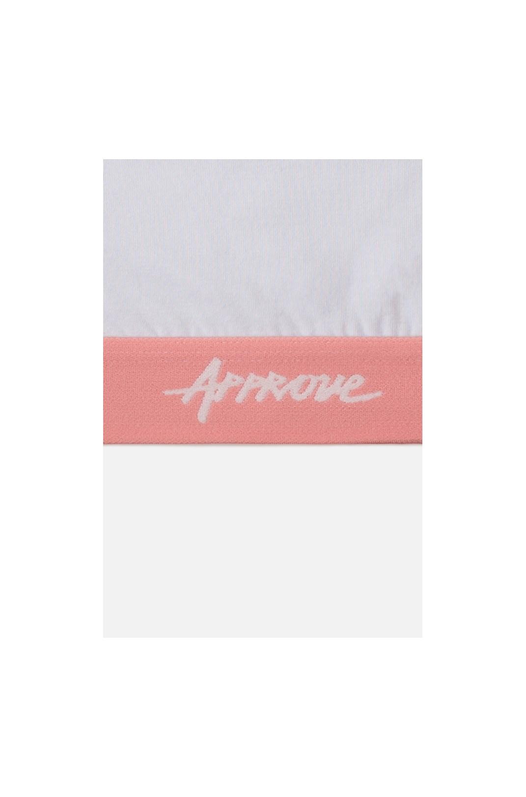 Top Approve Branco Com Rosa